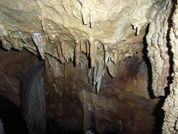 Sortie grotte de Saulges