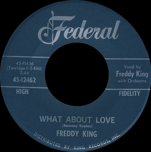 "Freddy King : Album "" Let's Hide Away And Dance Away With Freddy King "" King Records 773 [ US ]"