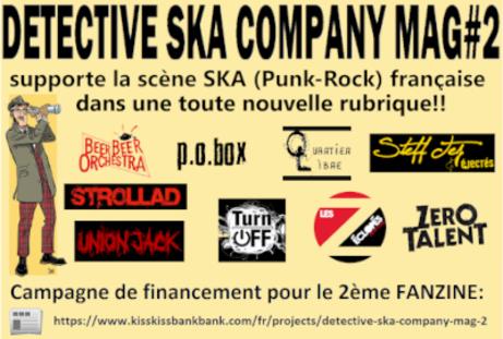 Détective Ska Company - Une cagnotte destinée à financer son 2e numéro