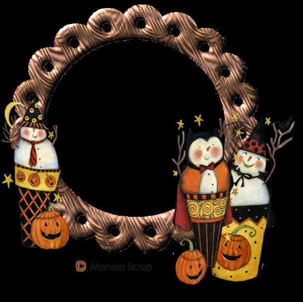 Cadres vectoriel d'Halloween page 2