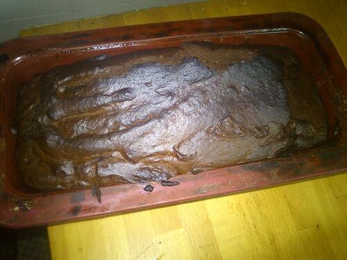 Un cake chocolat/ricotta