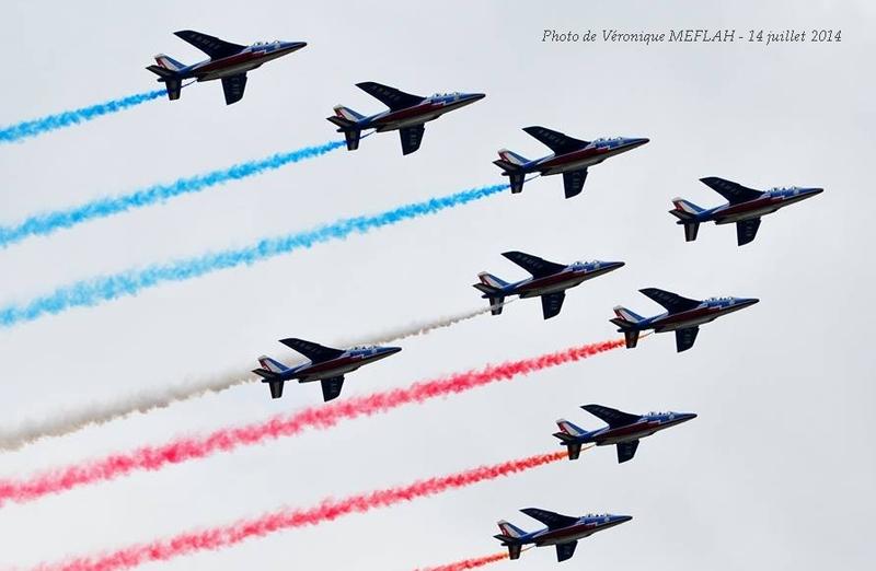 Défilé aérien du 14 juillet 2014 : La Patrouille de France