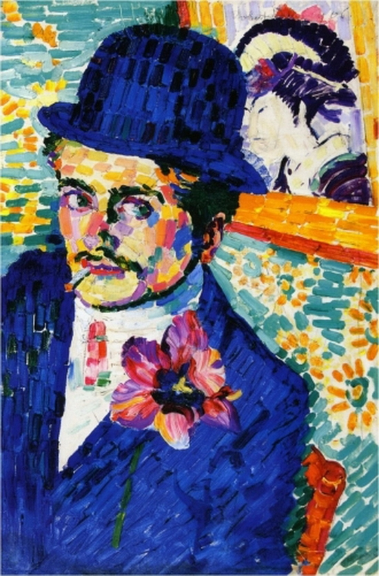 Robert Delaunay, Homme avec une tulipe, 1906