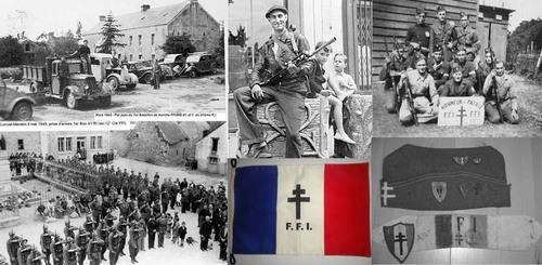 Bataillons et Compagnies FFI qui forment le 41° RI en 1944