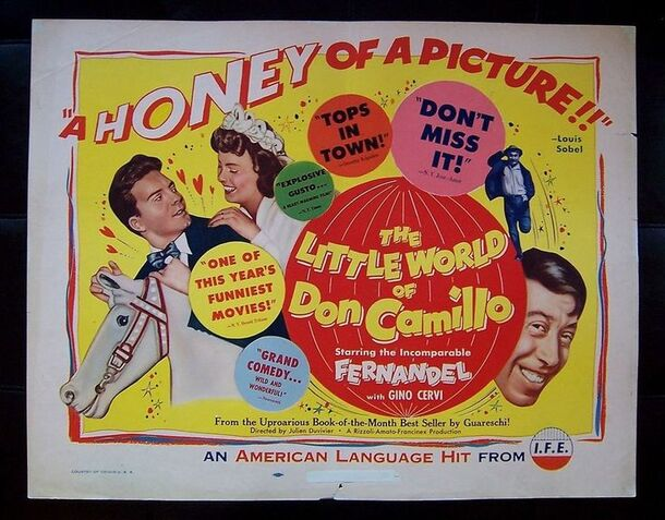 LE PETIT MONDE DE DON CAMILLO -  FERNANDEL BOX OFFICE 1952
