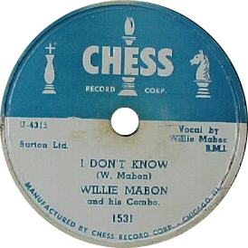 Willie Mabon : I Don't Know (1952)