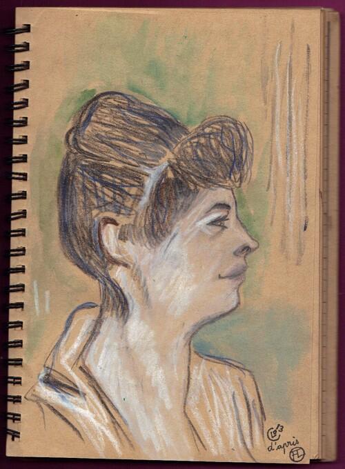 Croquis d'après Marcelle, Toulouse Lautrec