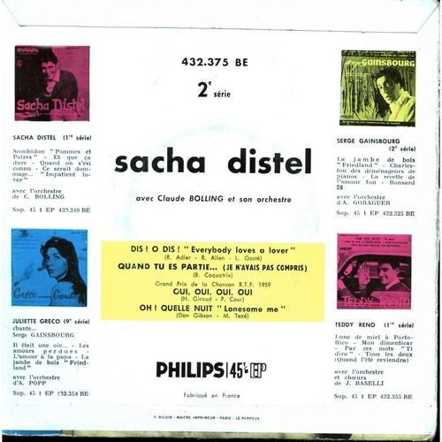 Sacha Distel - Oui, Oui, Oui, Oui (1959)