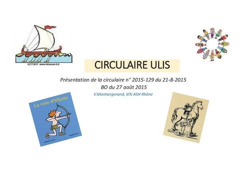 Circulaire ULIS du 21 aout 2015