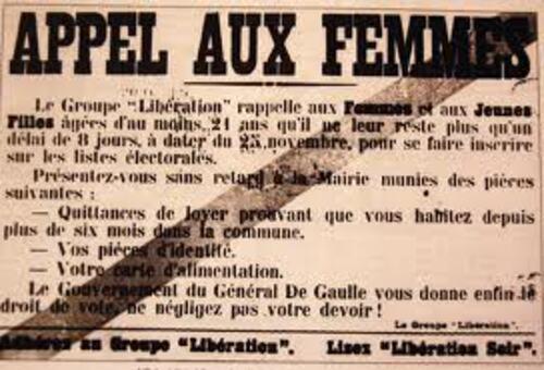 Histoire:  Le droit de vote des femmes