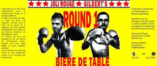 Collaboration Joli Rouge/Gilbert's Round 1