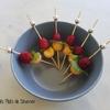 piques framboises menthe melon