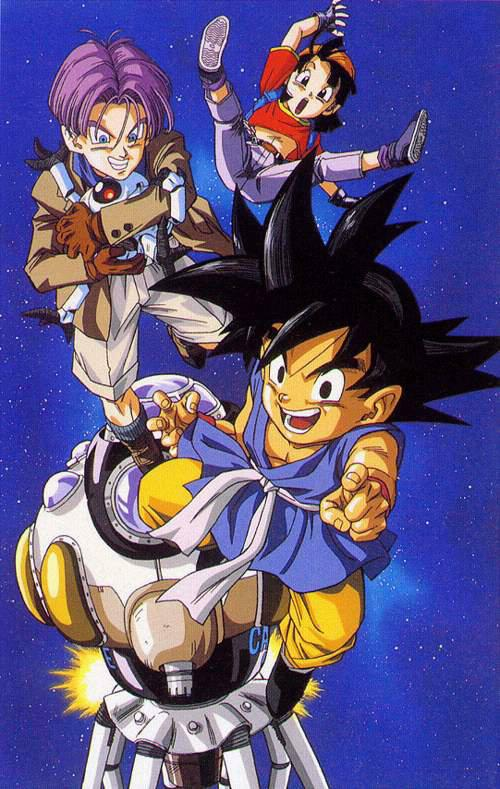 Dragonball GT (Sangoku et Trunks et Pan)