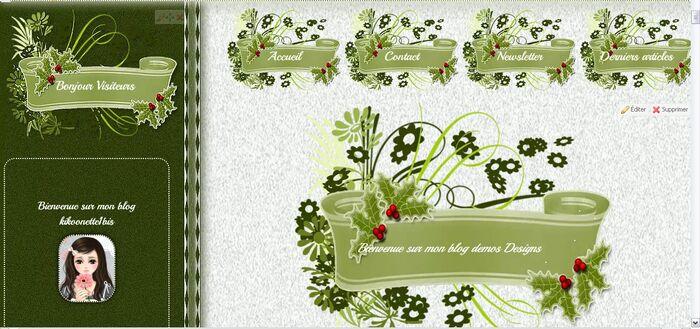 Ma création Design Noël
