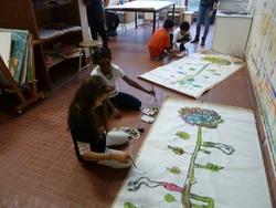 Dernières séances à l'école d'arts plastique CE1/CE2