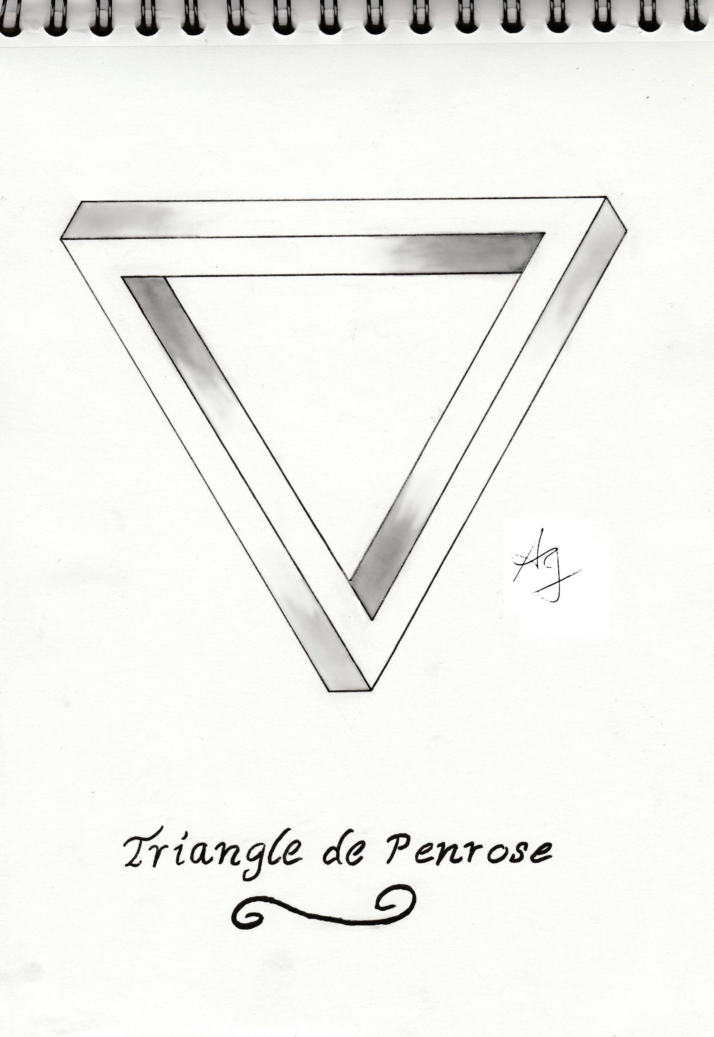 Illusion D Optique 1 Le Triangle De Penrose Aliengirl Art