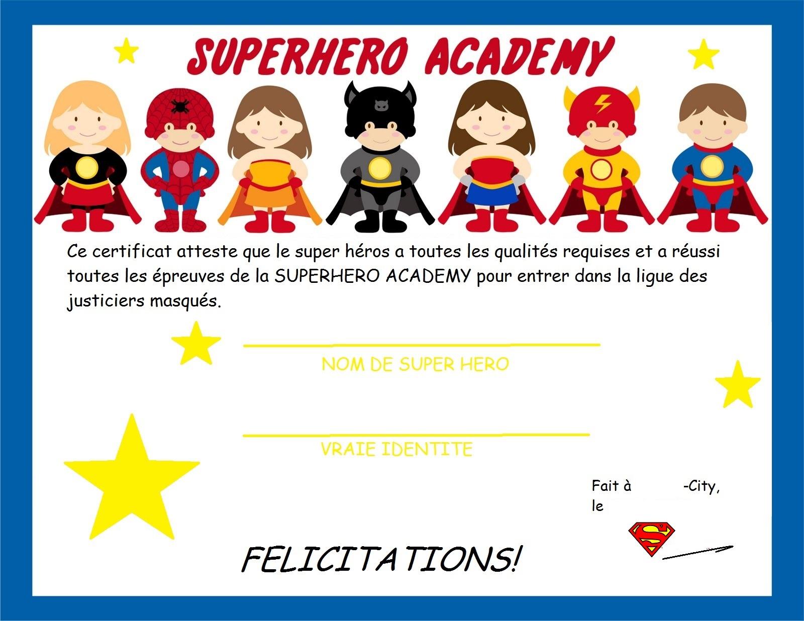 Populaire Un anniversaire de Super Héro (DIY et guide de survie) - Le blog d  UM66