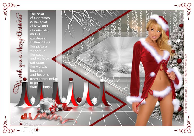 *** We wish you a Merry Christmas  ***  creation Lisette L&K - TOPGIRLZ-Reload ***