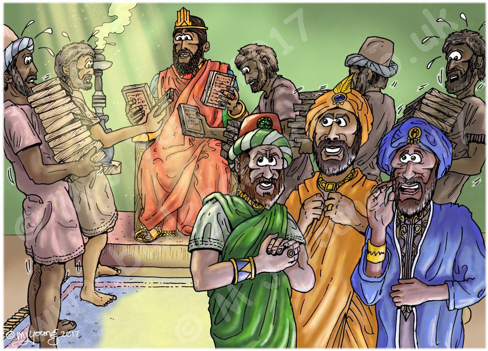 Daniel 06 - The lions' den - Scene 07 - Law search 980x706px col