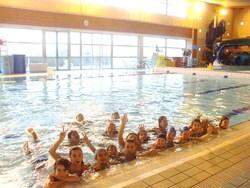 En décembre : dernière séance de piscine