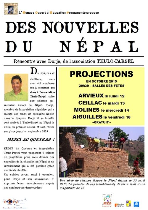 DES NOUVELLES DU NEPAL