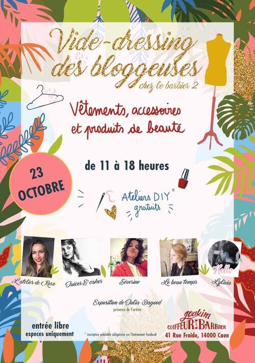 [Save The Date] Vide-dressing des blogueuses chez Le Barbier