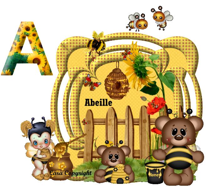 """Défi """"A"""" sur le thème de l'abeille."""