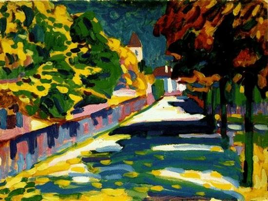 Wassily Kandinsky, Automne à Murnau, 1908
