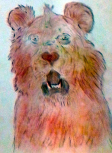 Martine D- lion effrayé