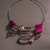 collier choco/rose 14euros