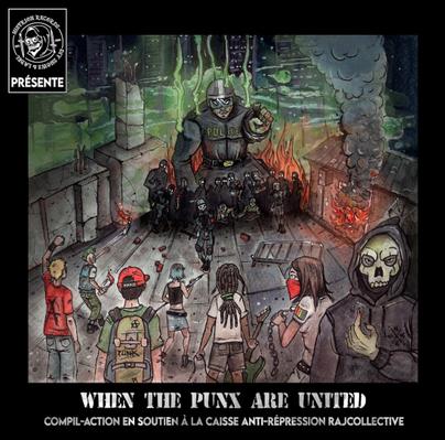 When the punx ... - Une compilation punk en soutien au réseau Rajcol