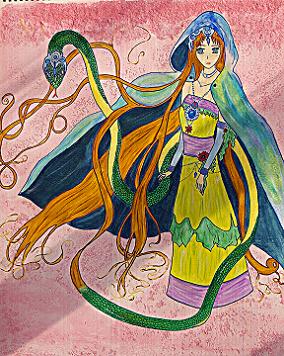 c'est la création d'un personnage de style manga dans un univers plein de couleurs !!
