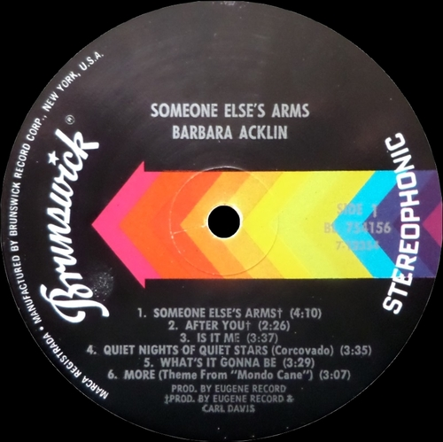 "Barbara Acklin : Album "" Someone Else's Arms "" Brunswick Records BL 754156 [ US ]"