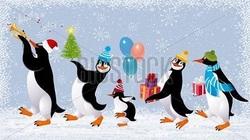 Frise de pingouins : la fin.