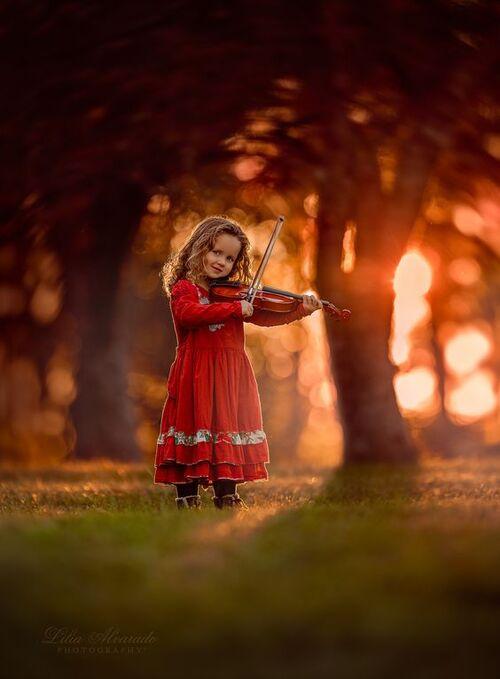 les enfants et l'automne