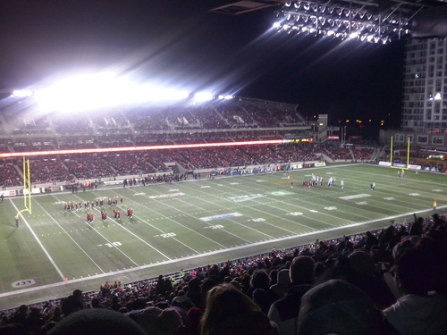 Ottawa Redblacks' last regular home game of the season