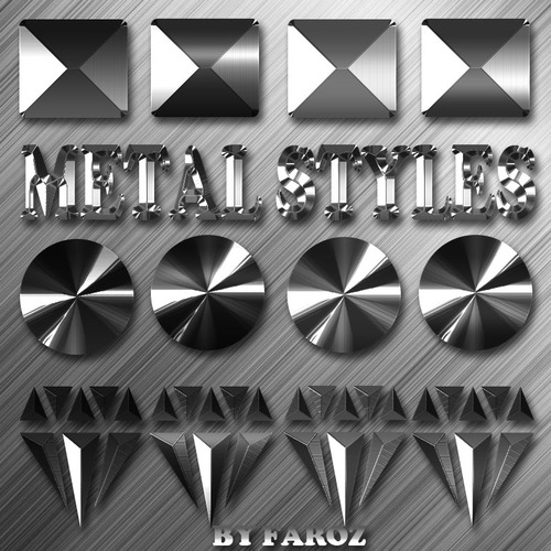 4 Free Metal Photoshop Styles