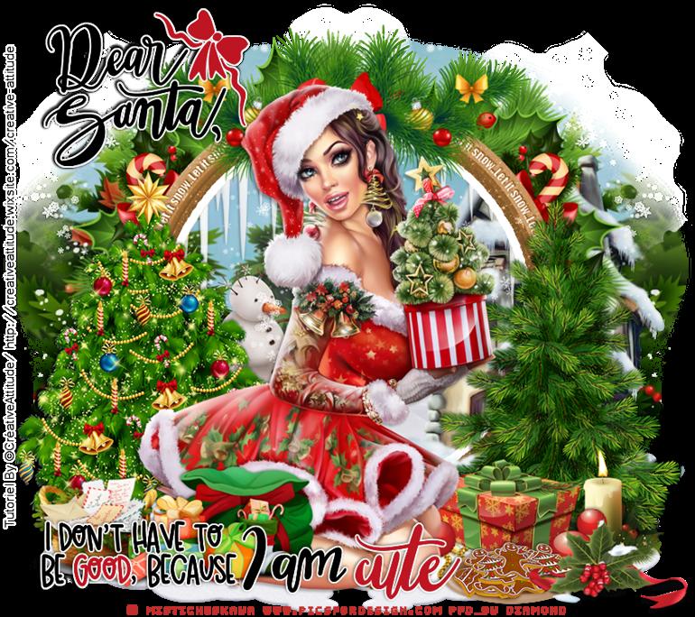 """Tutoriel """"Dear Santa"""" de Créative Attitude"""