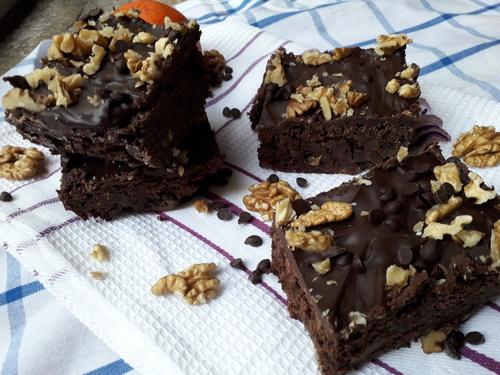 Brownies Orange/noix {Vegan}