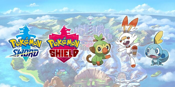 Pokémon épée bouclier starters officiel