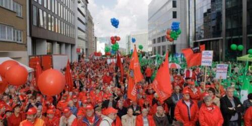 Les Belges en grève contre la réforme des retraites