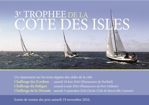 """Samedi 18 juin à PORTBAIL: Premier rendez du 3° """"trophée de la Côte des Isles"""""""