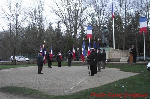 Commémoration de la fin des combats en Algérie, le 19 mars 2013 à Châtillon sur Seine