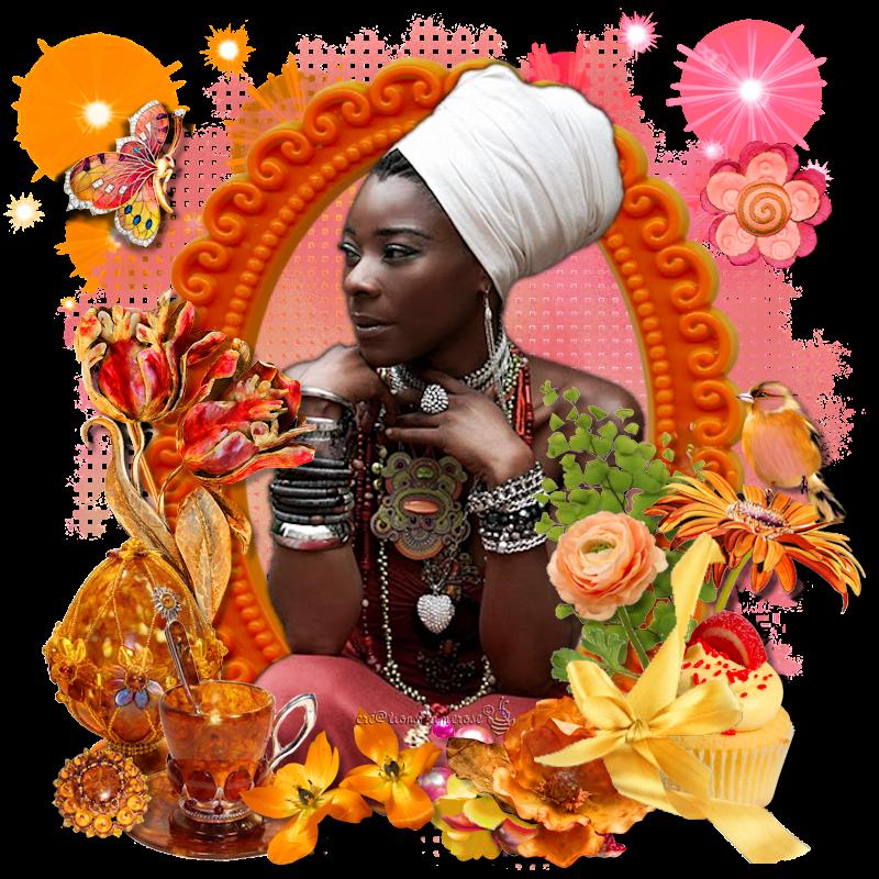 couleurs chaudes d'Afrique