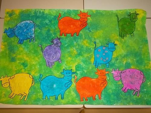 Nos vaches dans la prairie