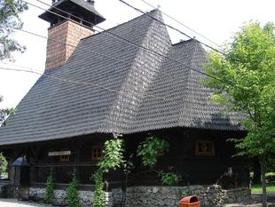 Roumanie, église en bois orthodoxe de Baile Félix