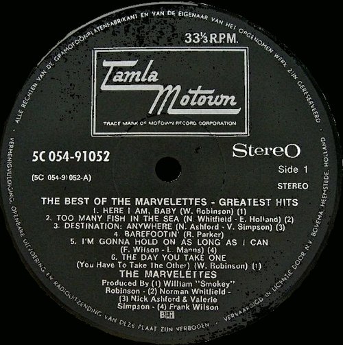 "The Marvelettes : Album "" The Best Of The Marvelettes "" Tamla Motown Records STML 11258 [ UK ]"