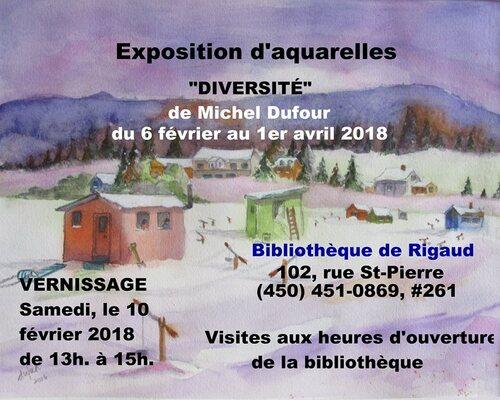 Michel Dufour à la bibliothèque de Rigaud