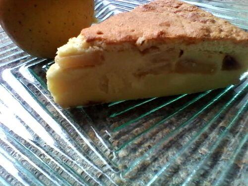 Gâteau magique (oui...ça y'est..je l'ai fait) à la vanille et pommes caramélisées