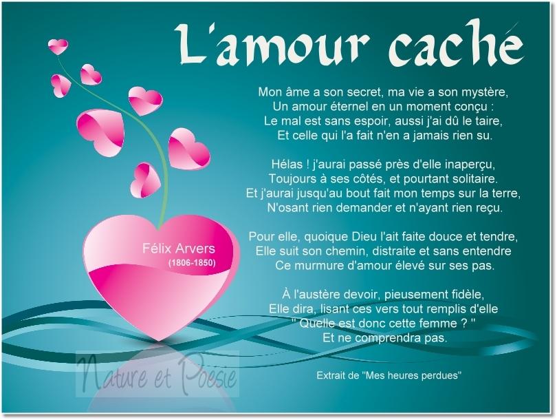 Poémes Damour Lamour Caché Le Monde De La Philo Et De